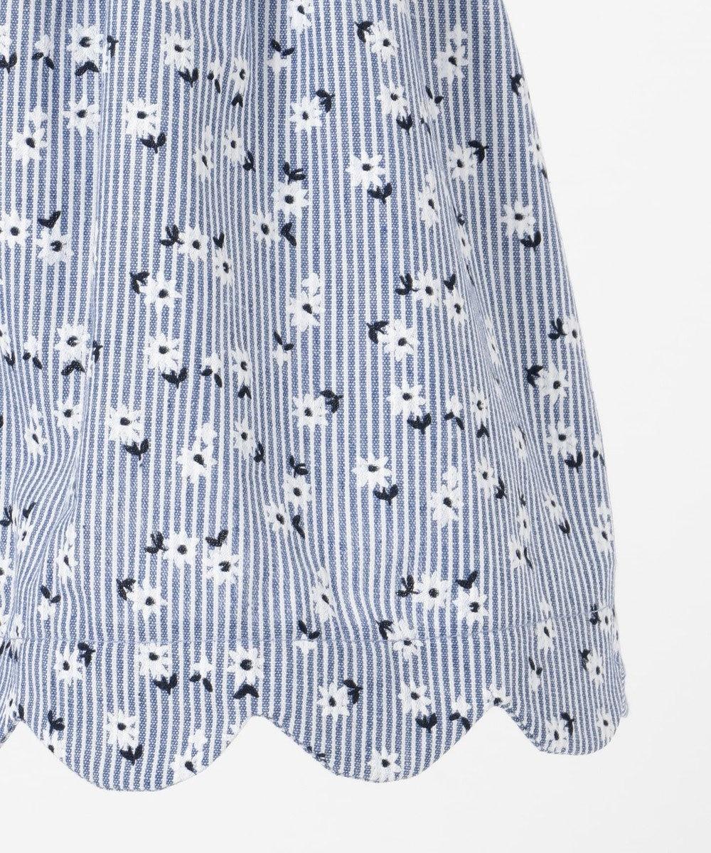 any FAM KIDS 【100‐130cm】ストライプ花柄プリント スカート ブルー系1