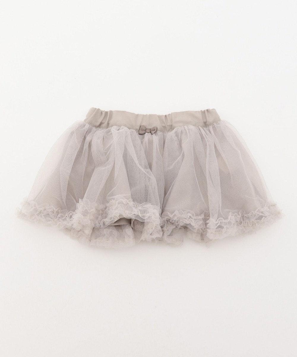 any FAM KIDS 【baby/70-80cm】チュールスカート ライトグレー系