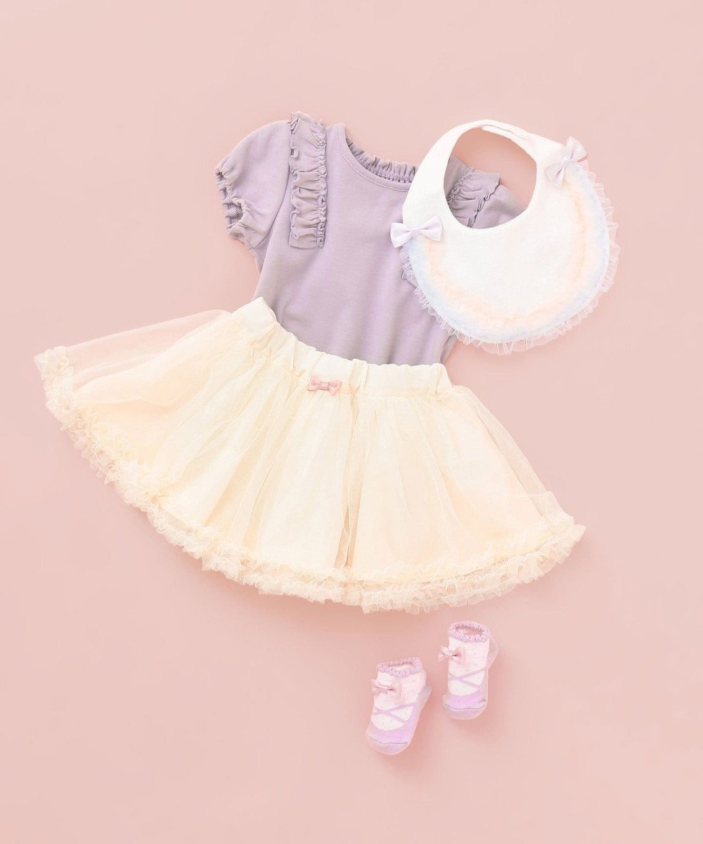 any FAM KIDS 【baby/70-80cm】チュールスカート アイボリー系