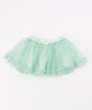any FAM KIDS 【baby/70-80cm】チュールスカート ライトグリーン系