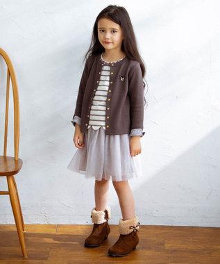 any FAM KIDS 【140-150cm】チュールスカート ミルクティー