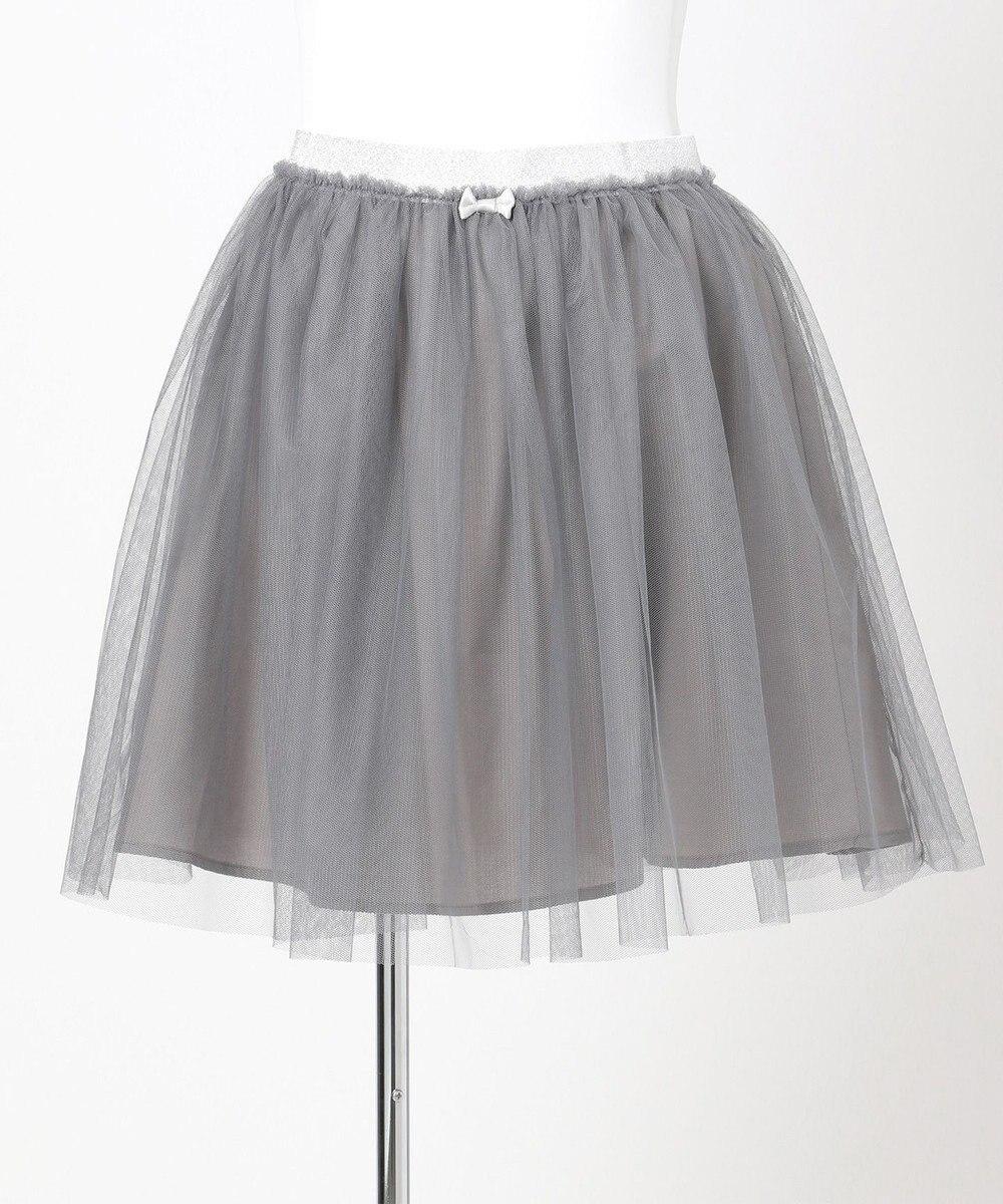 any FAM KIDS 【140-150cm】チュールスカート ライトグレー系