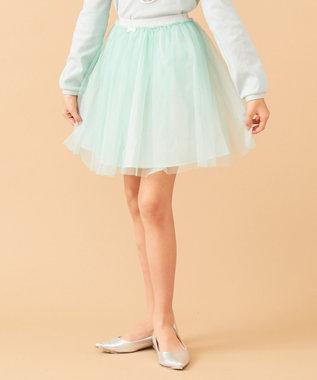 any FAM KIDS 【140-150cm】チュールスカート ライトグリーン系