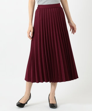 any FAM 【定番人気・親子でお揃い】ウーリッシュフラノ プリーツスカート ローズ系