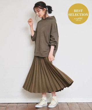 any FAM 【定番人気・親子でお揃い】ウーリッシュフラノ プリーツスカート ブラウン系5