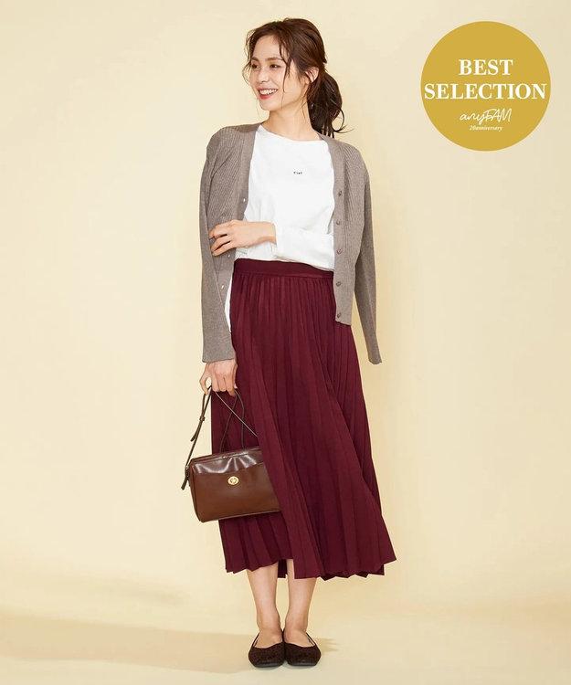 any FAM 【定番人気・親子でお揃い】ウーリッシュフラノ プリーツスカート