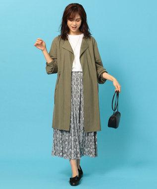 any FAM L 【洗える】パイソン プリーツスカート ライトグレー系
