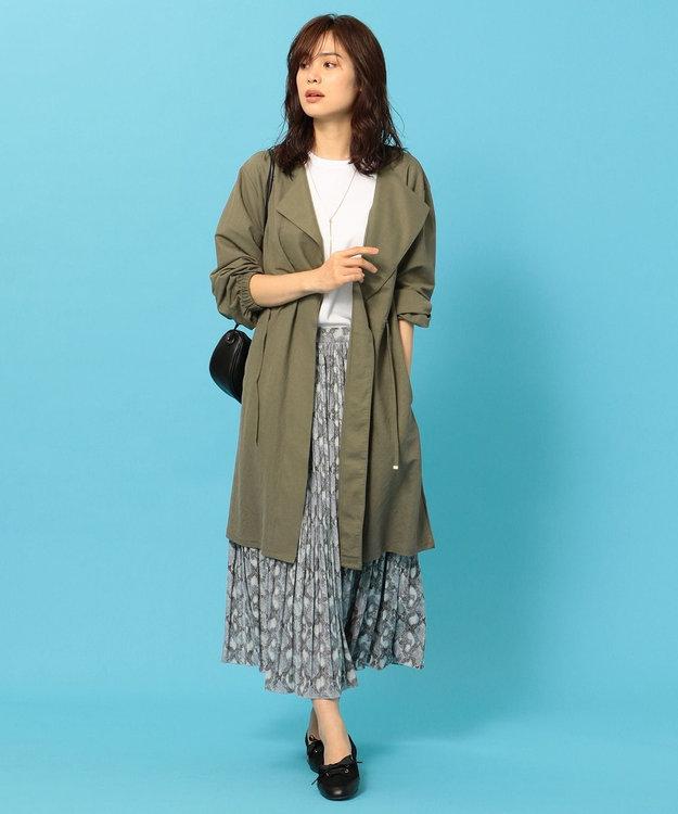 any FAM L 【洗える】パイソン プリーツスカート