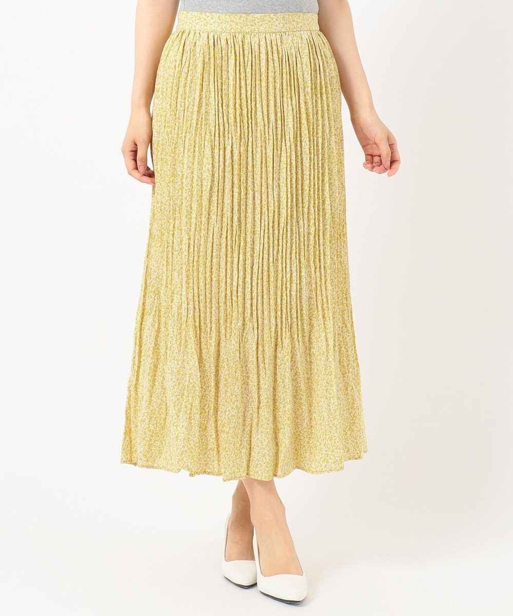 any FAM 【洗える】フラワープリント スカート イエロー系3