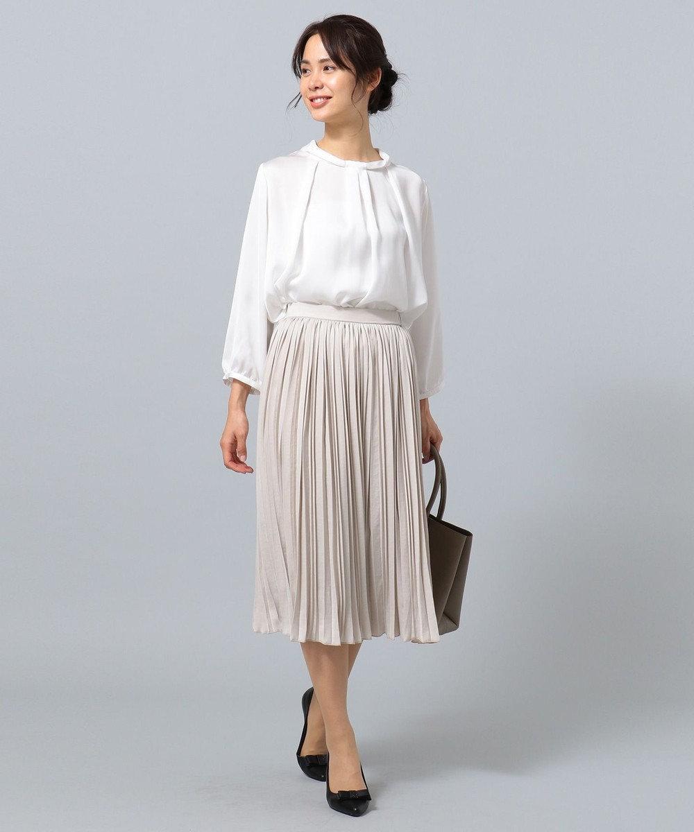 any FAM 【セレモニー】プリーツ スカート ベージュ系