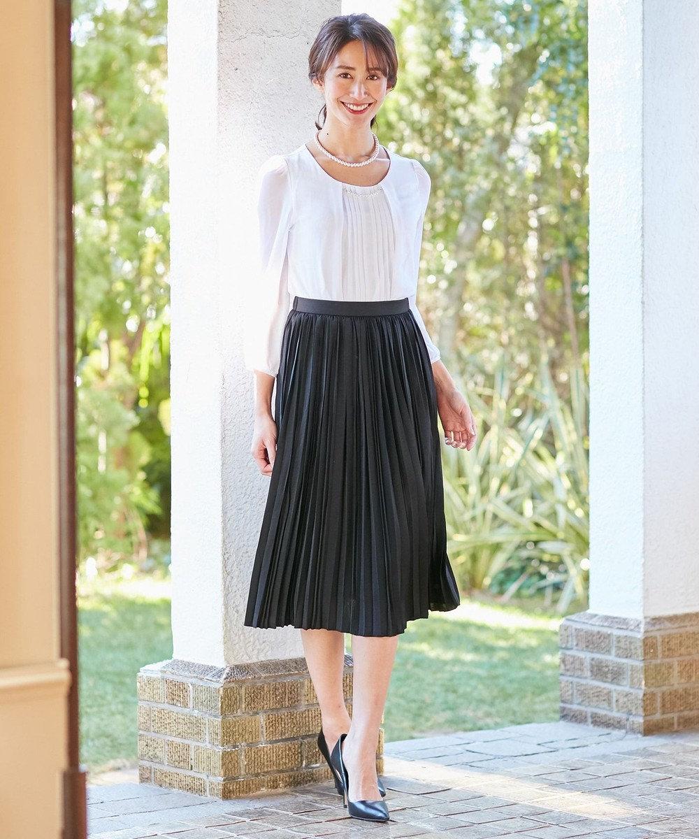any FAM 【セレモニー】プリーツ スカート ブラック系