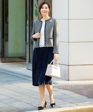 any FAM 【セレモニー】プリーツ スカート ネイビー系