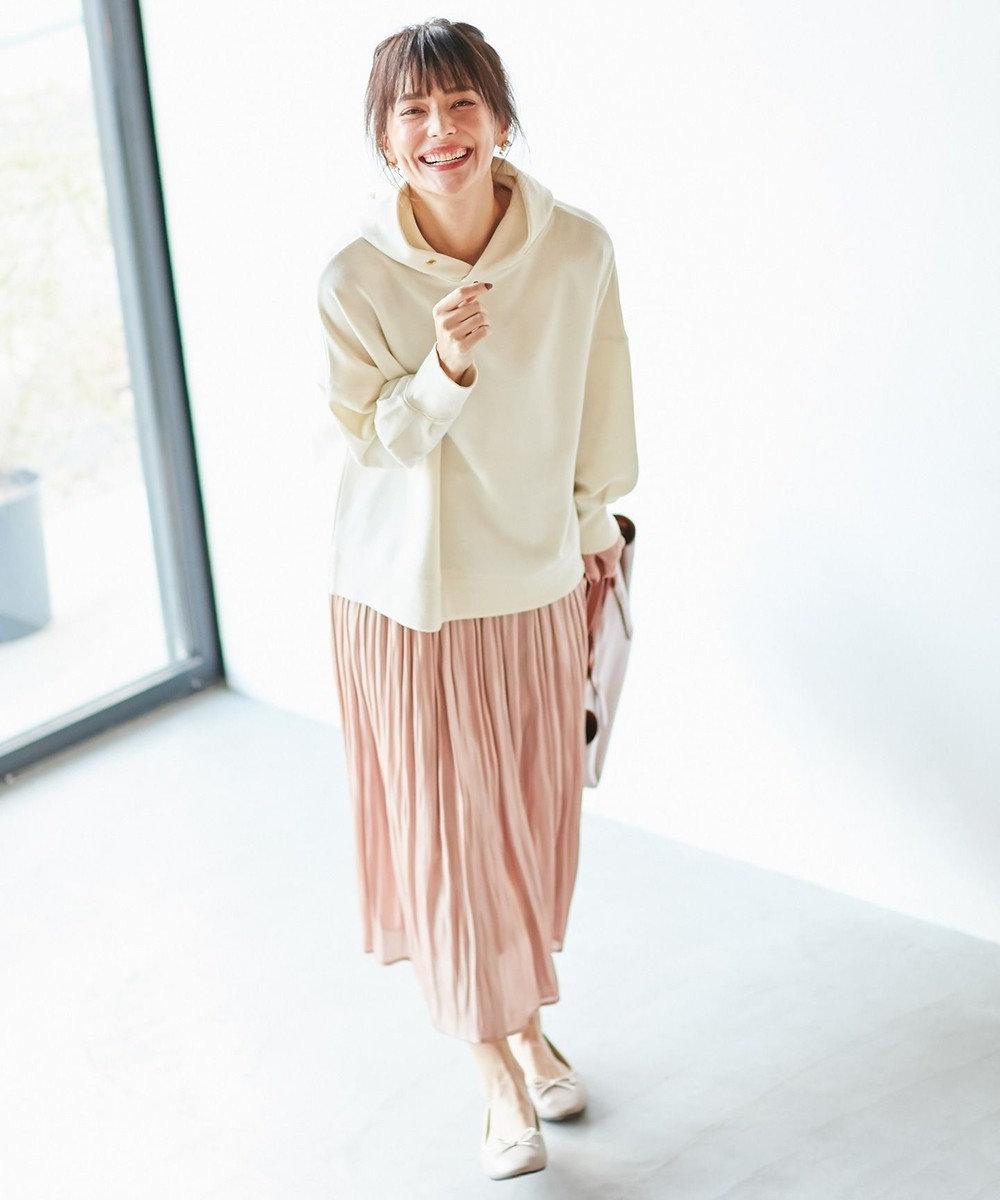 any FAM 【追加生産決定!】【親子でお揃い】オーロラサテンギャザー スカート サーモンピンク
