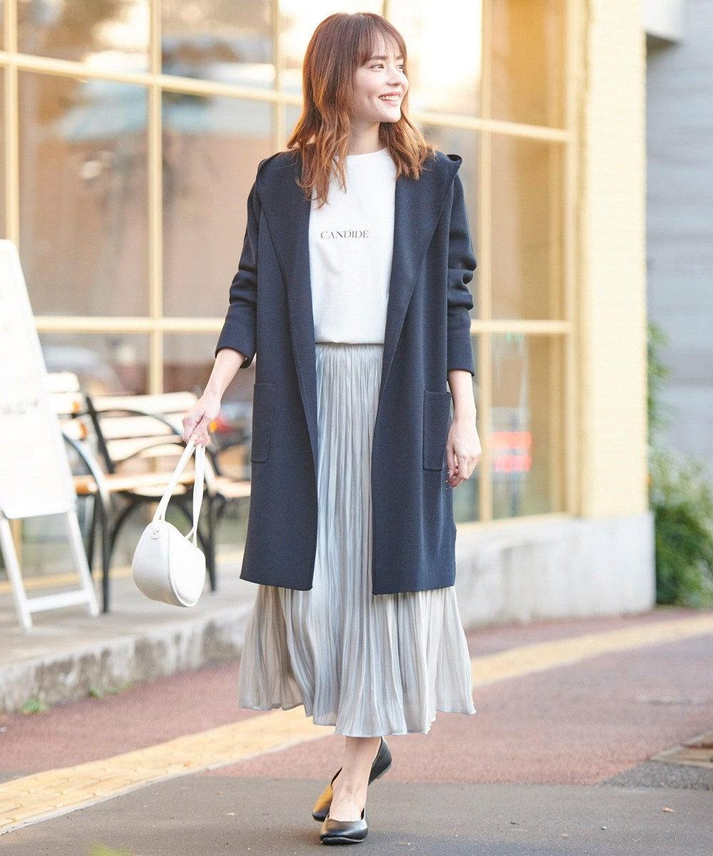 any FAM 【追加生産決定!】【親子でお揃い】オーロラサテンギャザー スカート ライトグレー