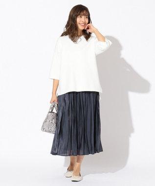 any FAM 【追加生産決定!】【親子でお揃い】オーロラサテンギャザー スカート ネイビー