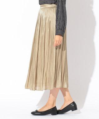 any FAM 【追加生産決定!】【親子でお揃い】オーロラサテンギャザー スカート ベージュ