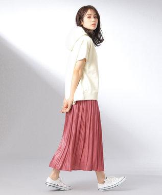 any FAM 【追加生産決定!】【親子でお揃い】オーロラサテンギャザー スカート オールドローズ系