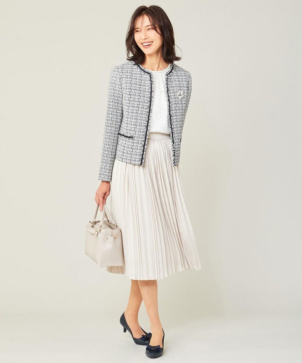 any FAM L 【セレモニー】プリーツ スカート ベージュ系