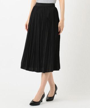 any FAM L 【セレモニー】プリーツ スカート ブラック系