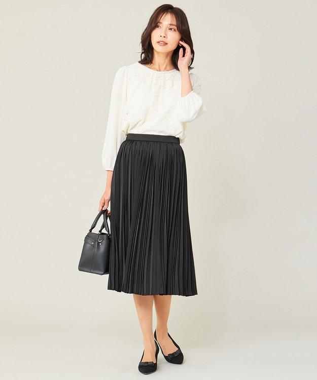 any FAM L 【セレモニー】プリーツ スカート