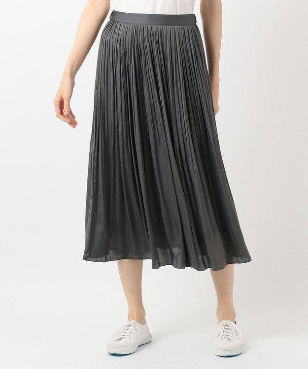 any FAM L 【定番人気・洗える】ヴィンテージサテンプリーツ スカート