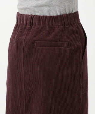 any FAM L 【洗える】コットンコーデュロイ スカート ワイン系