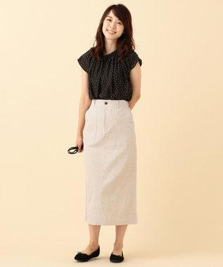 any FAM L 【洗える】コットンコーデュロイ スカート ベージュ系