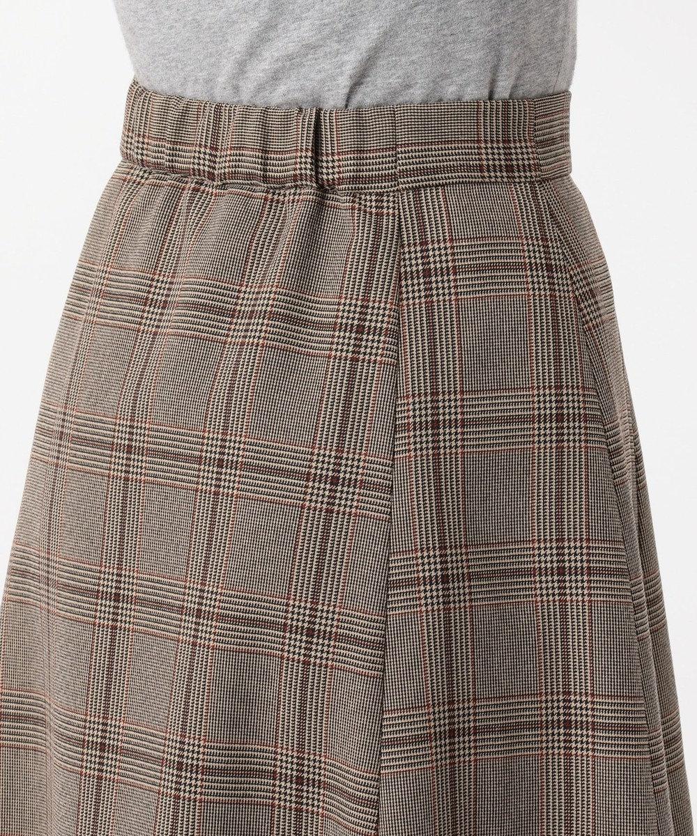 any FAM 【洗える】ウーリッシュフラノチェック スカート ブラウン系5