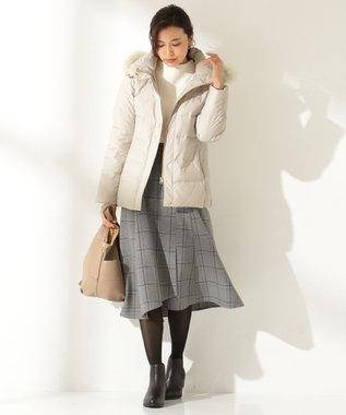 any FAM 【洗える】ウーリッシュフラノチェック スカート ライトグレー系5