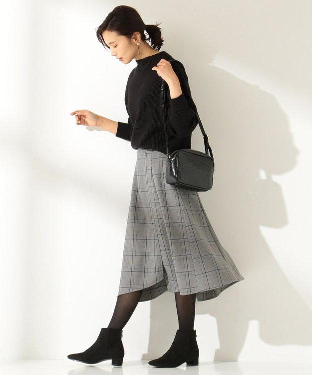 any FAM 【洗える】ウーリッシュフラノチェック スカート