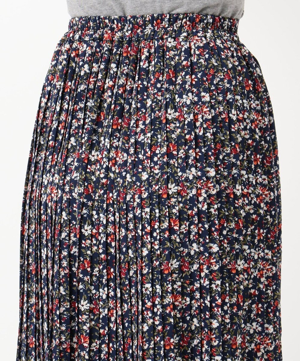 any FAM フラワープリーツ スカート ネイビー系5