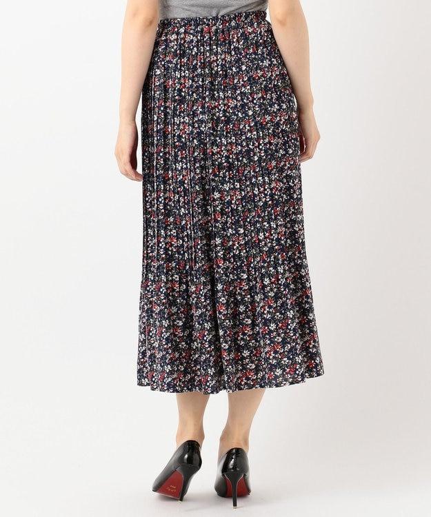any FAM フラワープリーツ スカート
