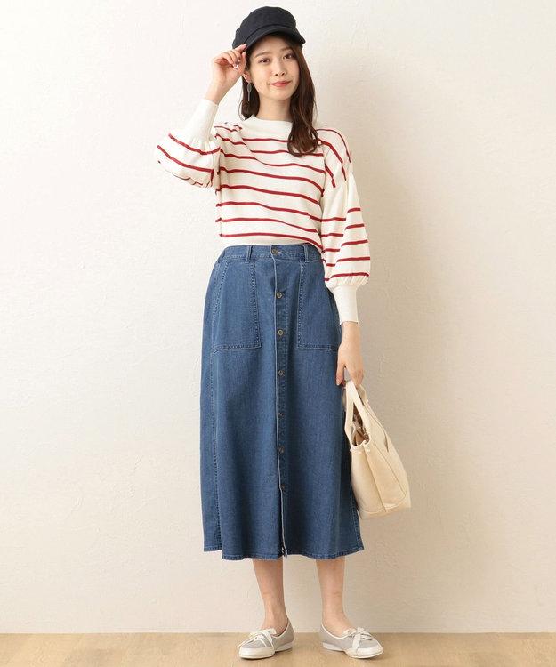 any FAM ソフトストレッチ デニムスカート