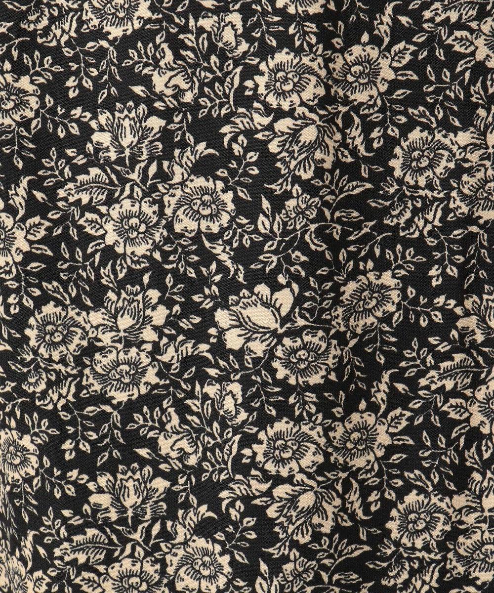 any FAM L 【洗える】レトロフラワープリント スカート ブラック系6