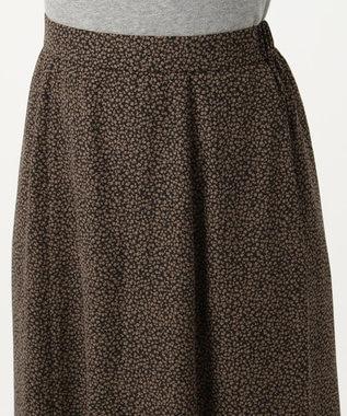 any FAM L 【洗える】レトロフラワープリント スカート ブラック系5