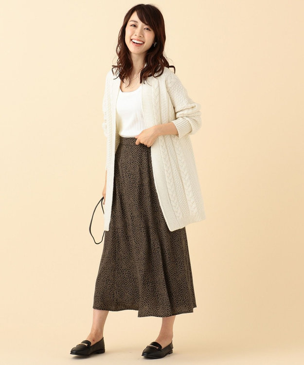 any FAM L 【洗える】レトロフラワープリント スカート