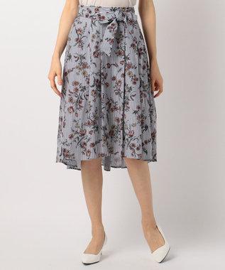 any FAM ボタニカルフラワープリント スカート ネイビー系1