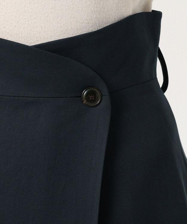 any FAM 【WEB限定】ラップ風タックロング スカート