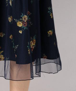 any FAM チュールフラワープリント スカート ネイビー系5