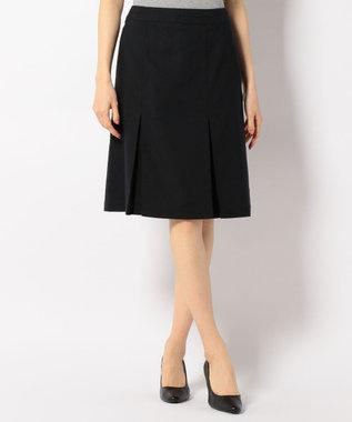 J.PRESS LADIES S 【洗える】T/CリネンヘリンボンST スカート ネイビー系