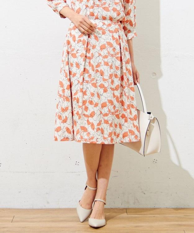 J.PRESS LADIES S 【洗える】P/シャドーフラワーPT スカート