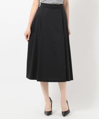 J.PRESS LADIES L 【洗える】コットンナイロンシルキーローン スカート ブラック系
