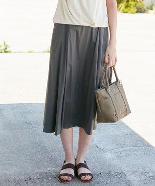 J.PRESS LADIES L 【洗える】コットンナイロンシルキーローン スカート グレー系