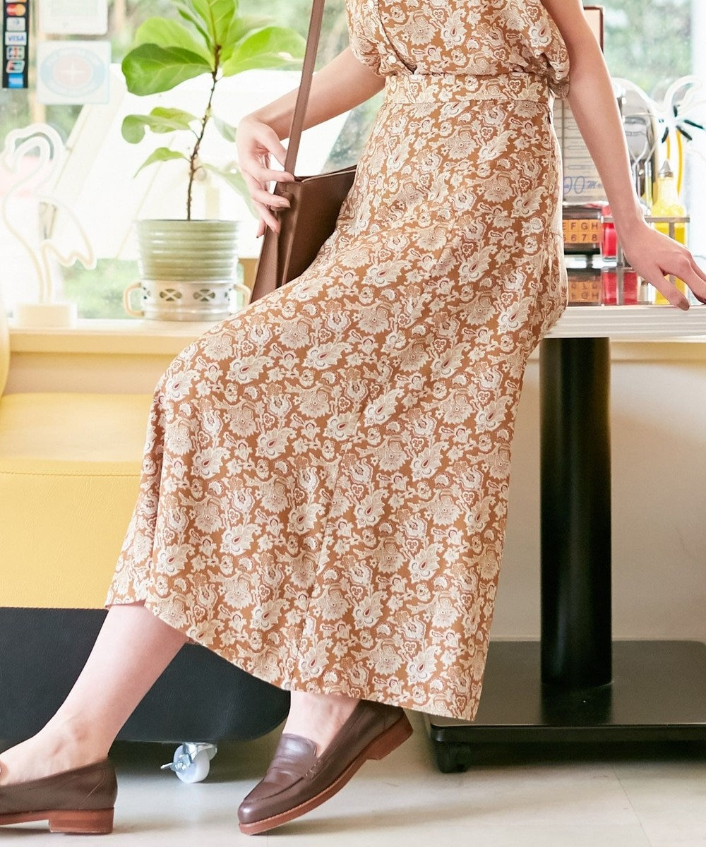 J.PRESS LADIES S 【洗える】LIBERTY Tiger Lily スカート キャメル系5