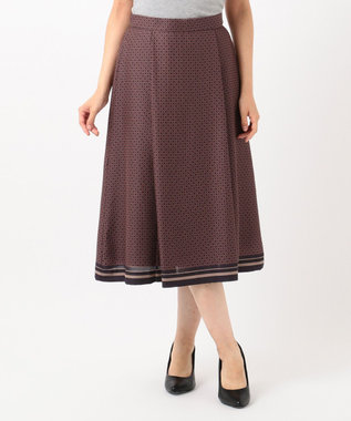 J.PRESS LADIES S 【洗える】ジオメトリックプリント スカート グレー系5