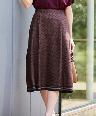 J.PRESS LADIES L 【洗える】ジオメトリックプリント スカート グレー系5