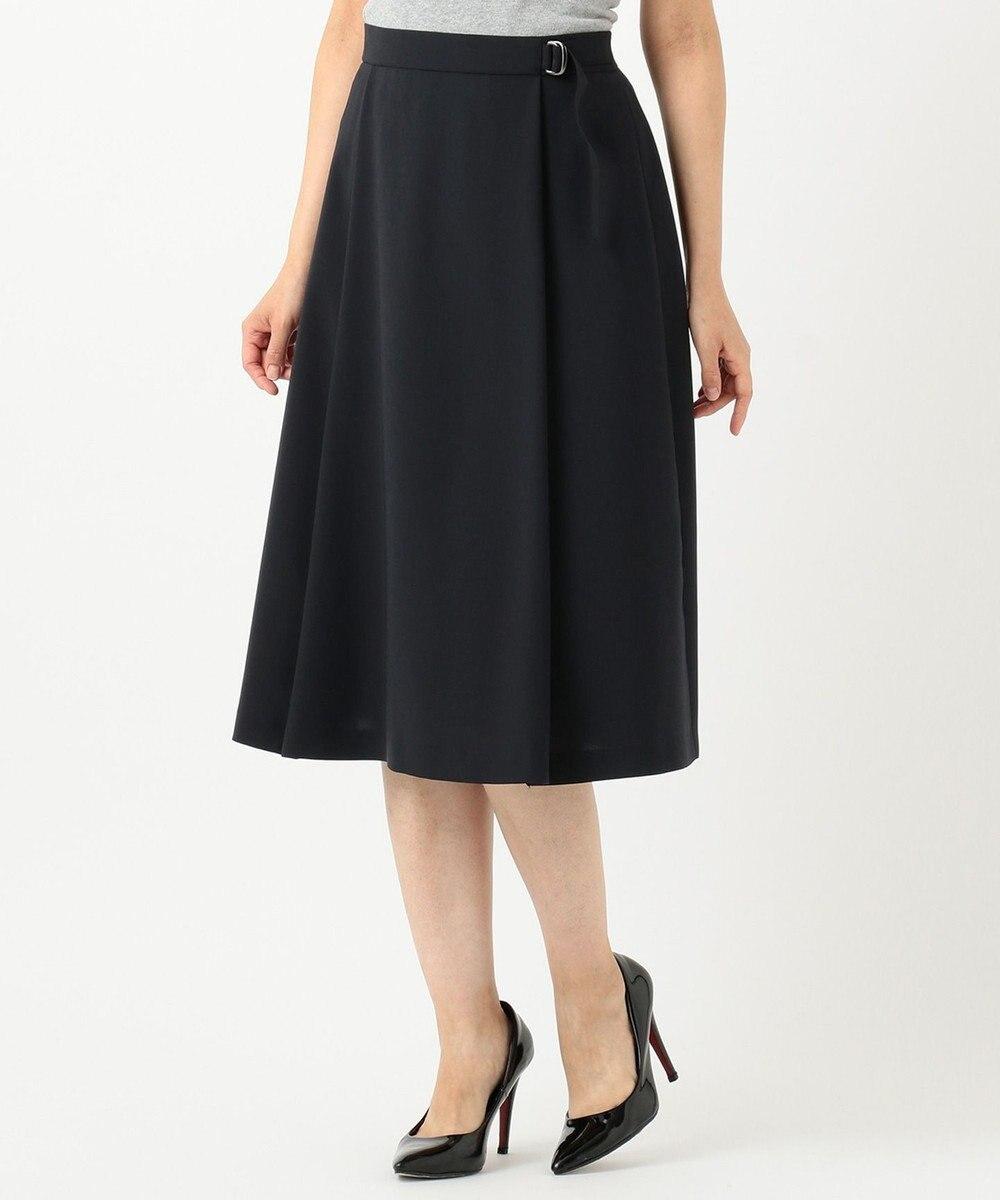 J.PRESS LADIES L 【洗える】リラクシオンツイル スカート ネイビー系