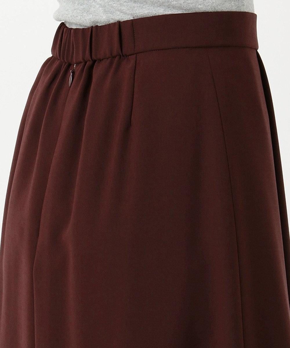 J.PRESS LADIES L 【洗える】リラクシオンツイル スカート ワイン系