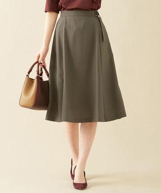 J.PRESS LADIES L 【洗える】リラクシオンツイル スカート ブラウン系