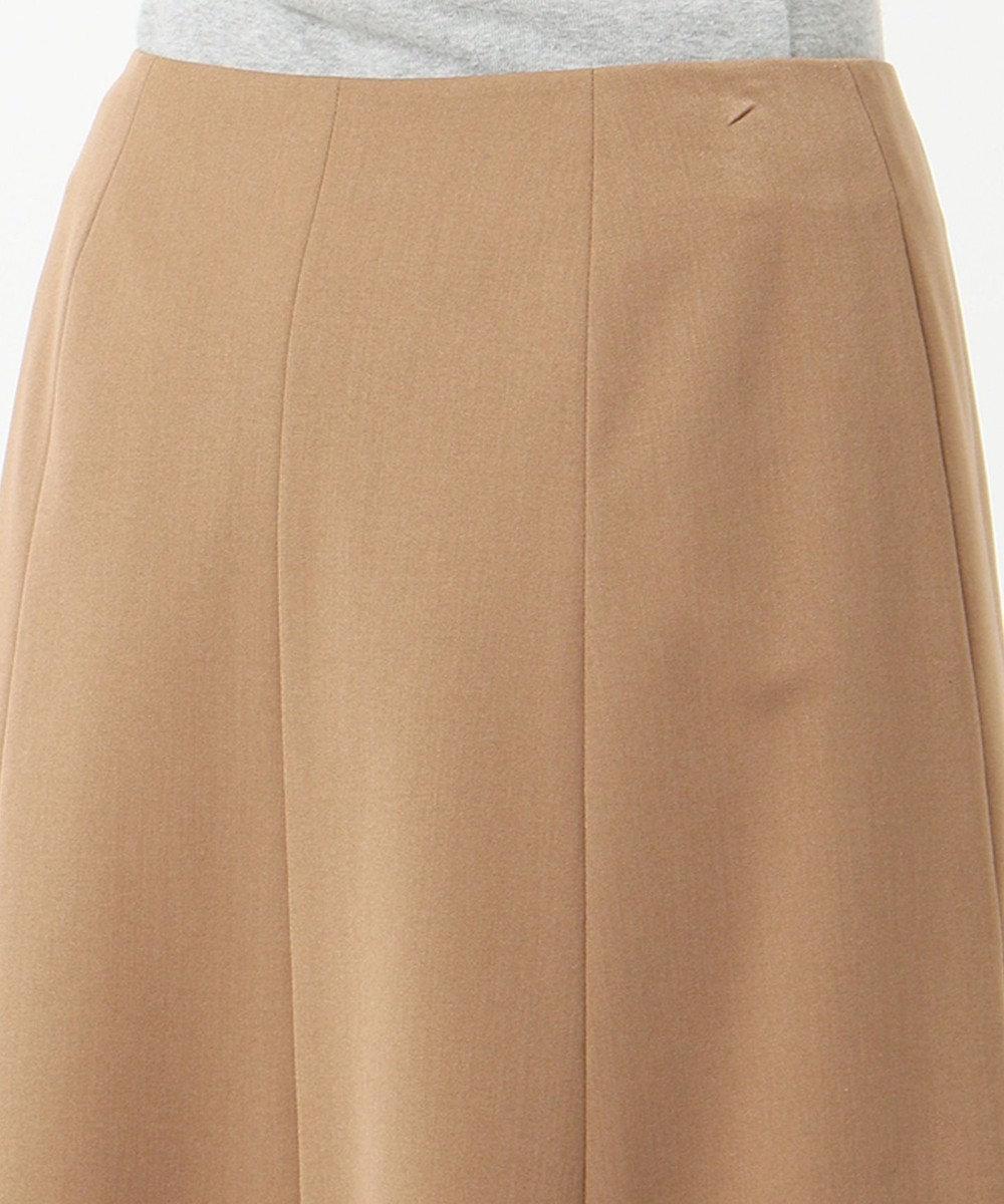 J.PRESS LADIES S 【スーツ対応】T/Rアルガンシルク スカート キャメル系